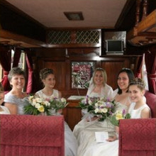 Plenty of room for the Bride and bridesmaids