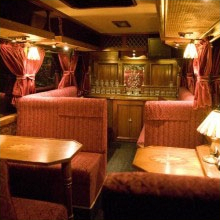 The Classic Carriage at night - Essex Luxury Minicoaches